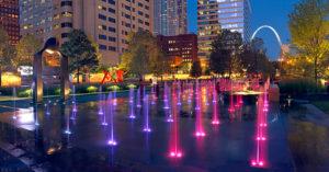 City Garden splash pad downtown St. Louis