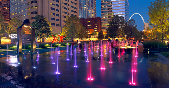 City Garden splash pad downtown St. Louis