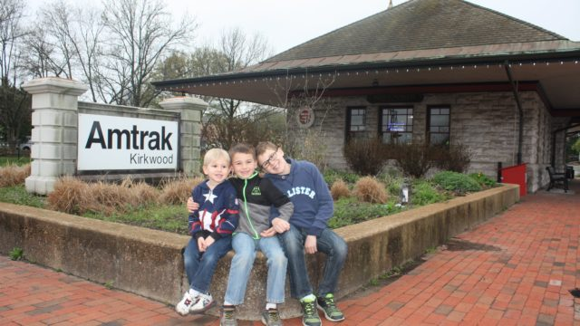 Leaving Amtrak station in Kirkwood, MO for Kansas City