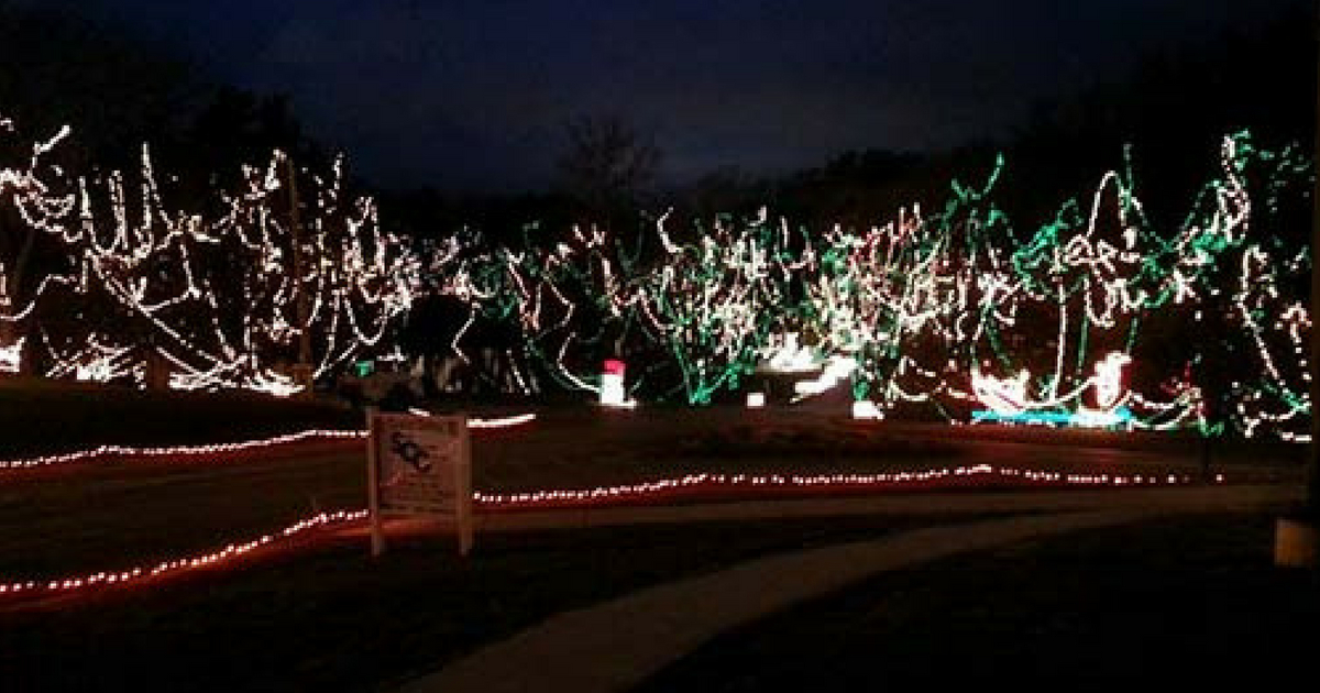 Celebration of Lights at Fort Zumwalt Park in O'Fallon, MO