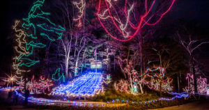Christmas Wonderland Display at Rock Spring Park in Alton