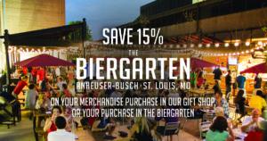 Budweiser Biergarten Savings Offer