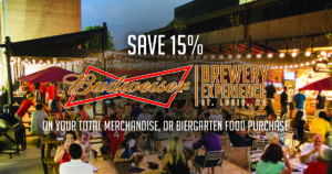 Budweiser Biergarten Food and Merchandise Offer