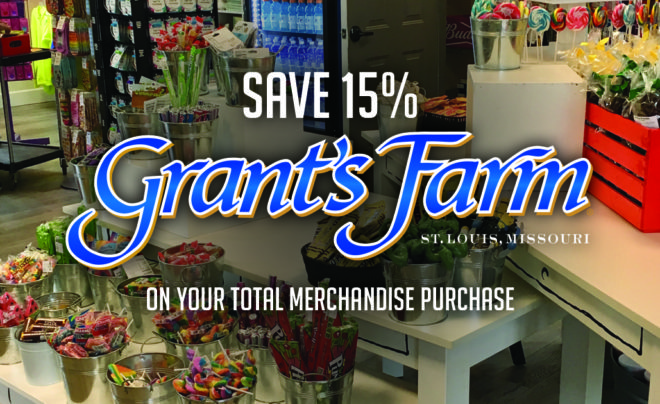 Grant's Farm Merchandise Purchase Offer